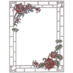 B14042 Stained Glass Roses
